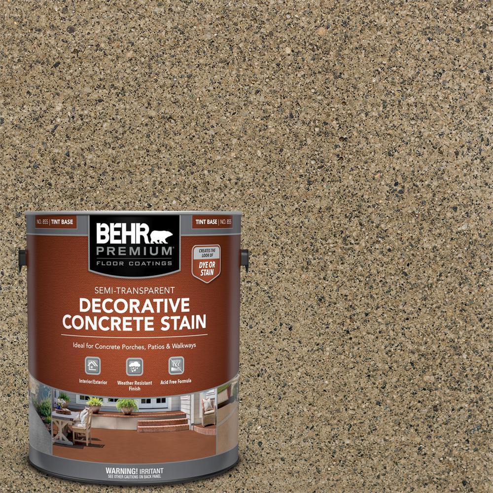 1 gal. #DCS-870 Sand Semi-Transparent Flat Interior/Exterior Decorative Concrete Stain
