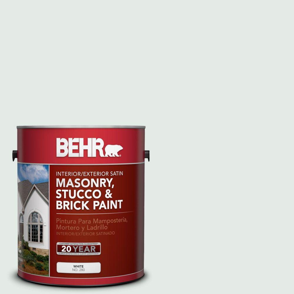 1 gal. #MS-63 White Clad Satin Interior/Exterior Masonry, Stucco and Brick