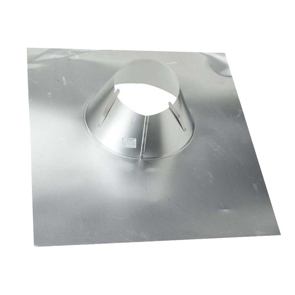 8 in. Aluminum Code Cap Base Vent Pipe Flashing