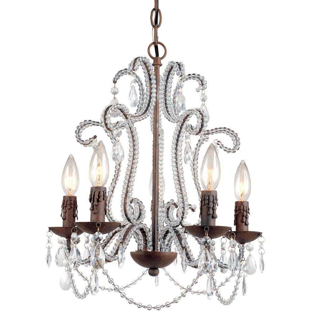 Af Lighting Beloved 5-Light Bronze Mini Chandelier