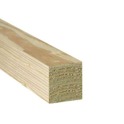 4 in. x 4 in. x 8 ft. #2 Ground Contact Pressure-Treated Southern Yellow Pine Timber