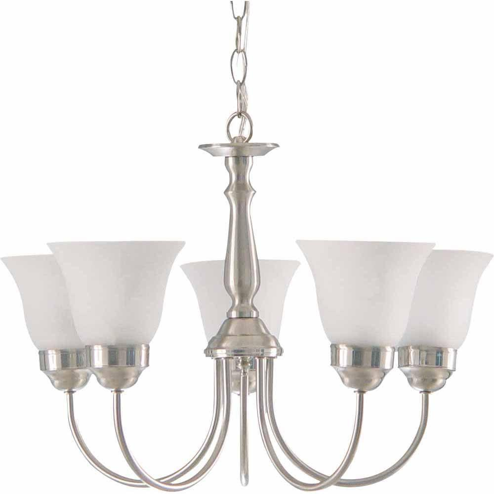 Lenor 5-Light Brushed Nickel Incandescent Ceiling Chandelier