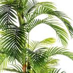 Laura Ashley 107.5 in. Tall Palm Tree, Artificial Indoor/ Outdoor Faux Dcor in Resin Planter