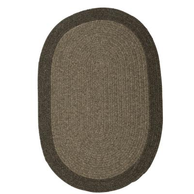 North Brown Earth 6 ft. x 6 ft. Round Braided Area Rug