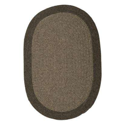 North Brown Earth 6 ft. x 6 ft. Braided Round Area Rug