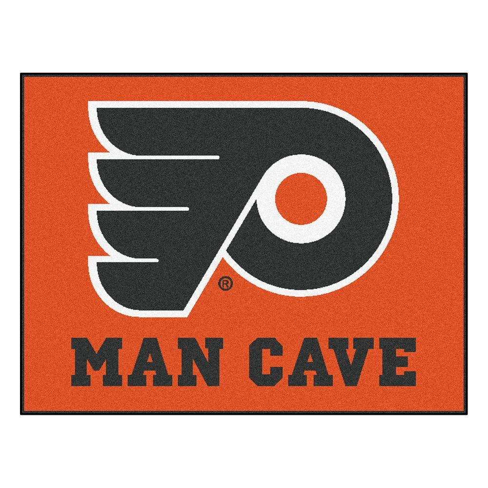 FANMATS Philadelphia Flyers Orange Man Cave 3 ft. x 4 ft. Area Rug