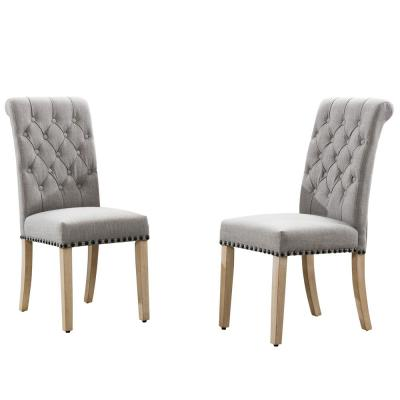 Toulouse Grey Cushion Accent Dining Chair (Set of 2)