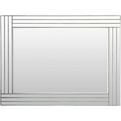 Tyrell 40 in. x 30 in. Glass Framed Mirror
