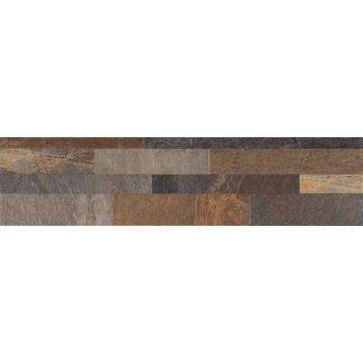 Mountain Rust Ledger Panel 6 in. x 24 in. Glazed Porcelain Floor and Wall Tile (11 sq. ft. / case)