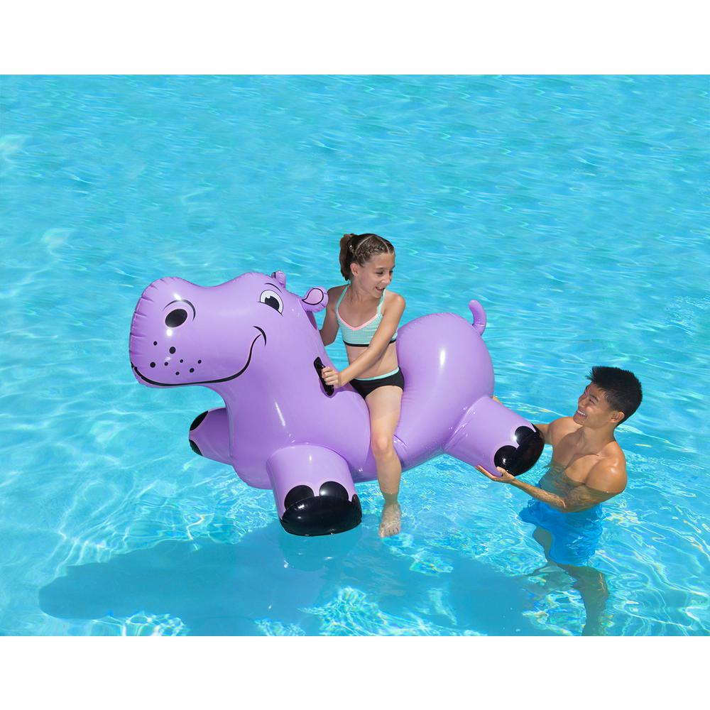 Poolmaster Happy Hippo Swimming Pool Float Rider-81702 - The Home Depot