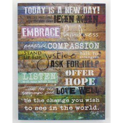 "12 In. x 16 In. H ""Today Is A New Day"" by Penny Lane Framed Printed Wall Art"