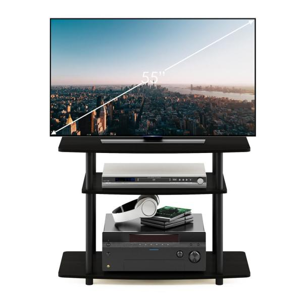 Turn-N-Tube 31.5 in. Espresso and Black Particle Board TV Stand Fits TVs Up to 32 in. with Open Storage
