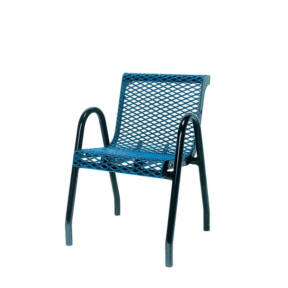Ultra Play 18 in. Diamond Green Portable Commercial Park Contour Food Court Chair