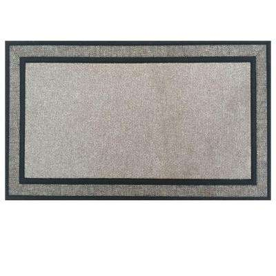 Racetrack Gray 18 in. x 30 in. Rubber Backed Door Mat