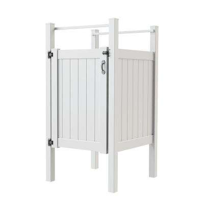 5 ft. x 4 ft. Vinyl Outdoor Shower Stall Kit with Un-Assembled Gate