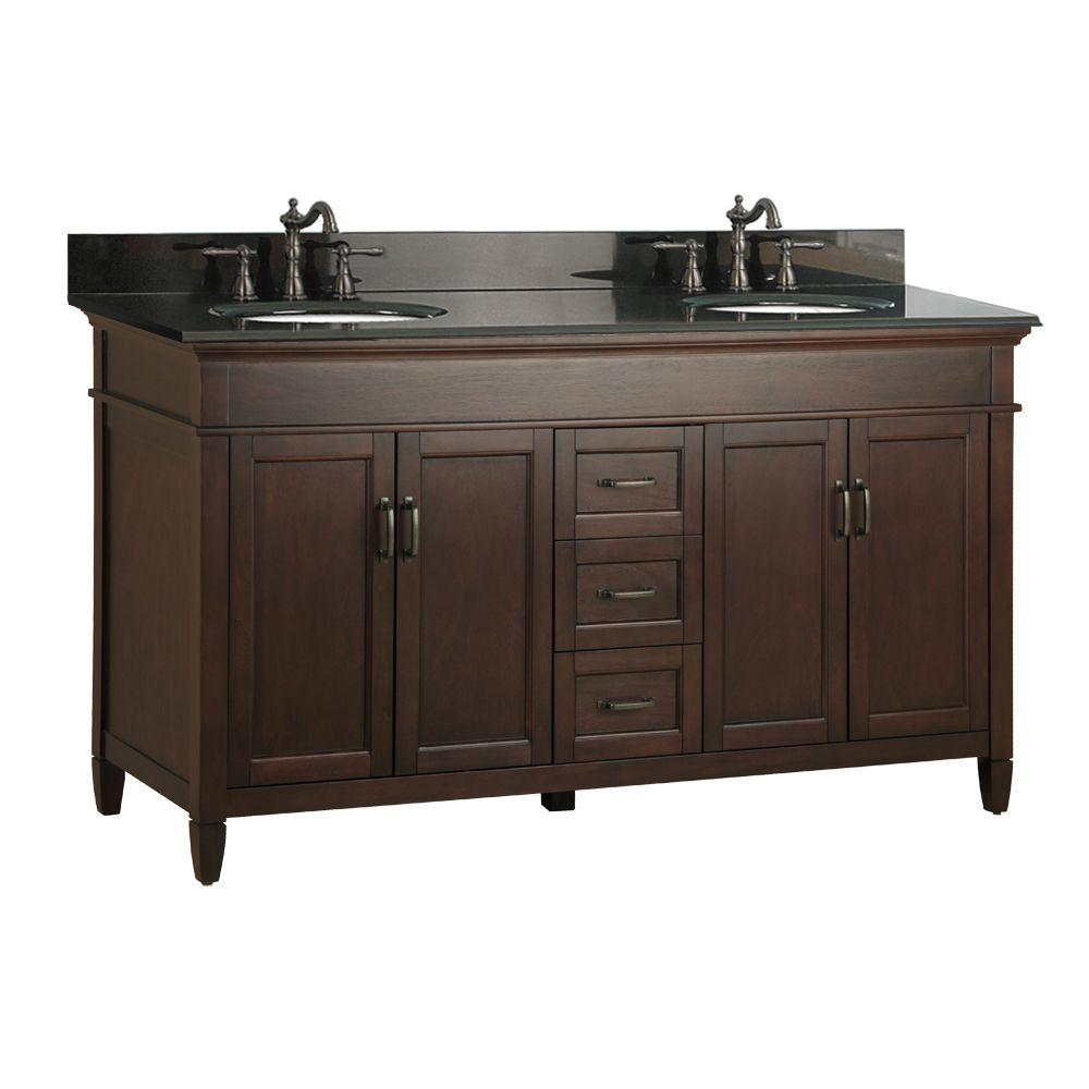 Awesome D Double Bath Vanity In Mahogany