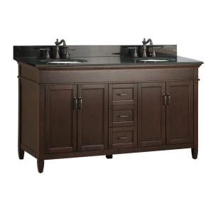 Foremost Ashburn 61 inch W x 22 inch D Double Bath Vanity in Mahogany with Granite Vanity... by Foremost