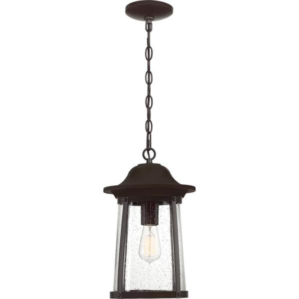 Hogan 1-Light Bronze Outdoor Pendant Light