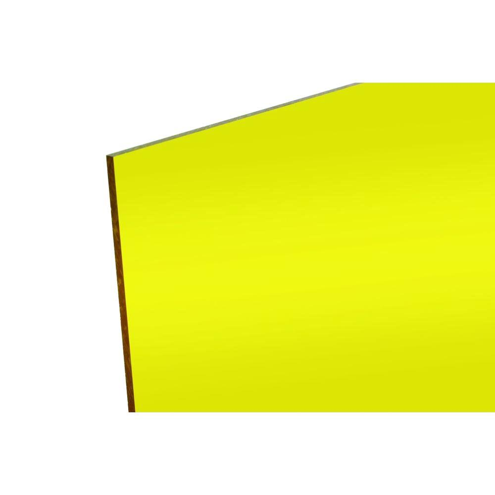 FABBACK 48 in. x 96 in. x .118 in. Yellow Acrylic Mirror