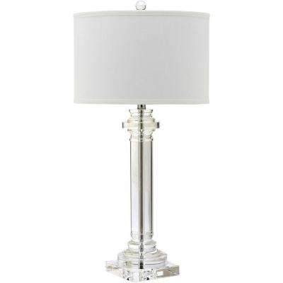 Nina 30 in. Clear Crystal Column Lamp