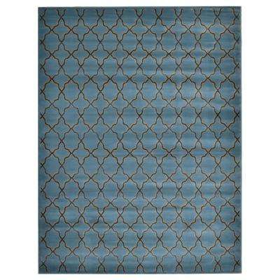 Fret Blue 5 ft. 3 in. x 7 ft. 3 in. Area Rug