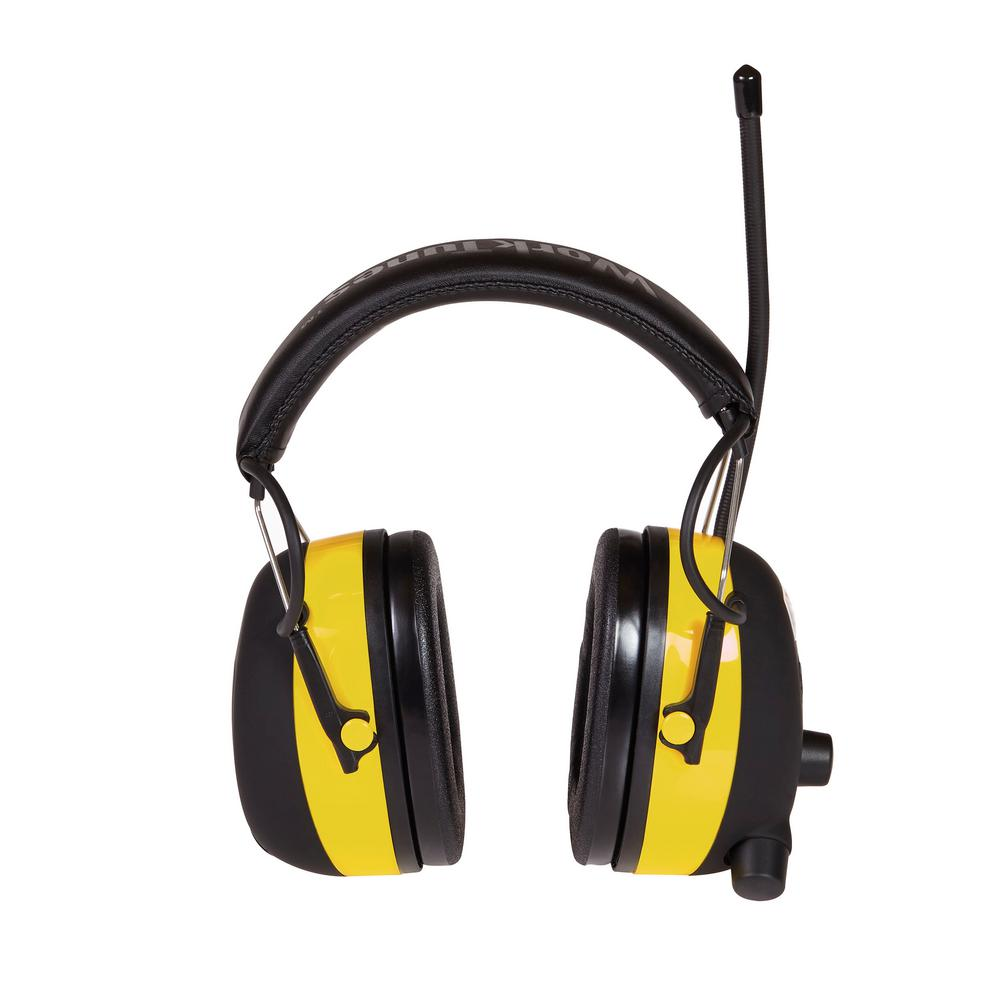3M WorkTunes Digital Hearing Protector with AM/FM Stereo Radio (Case of 4), Yellows/Golds