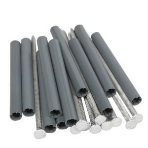 Amerimax Home Products 8 In Aluminum Spikes With 6 In Plastic Ferrules 10 Pack 45044 The Home Depot