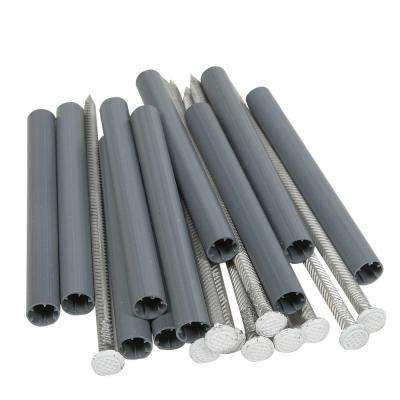8 in. Aluminum Spikes with 6 in. Plastic Ferrules (10-Pack)
