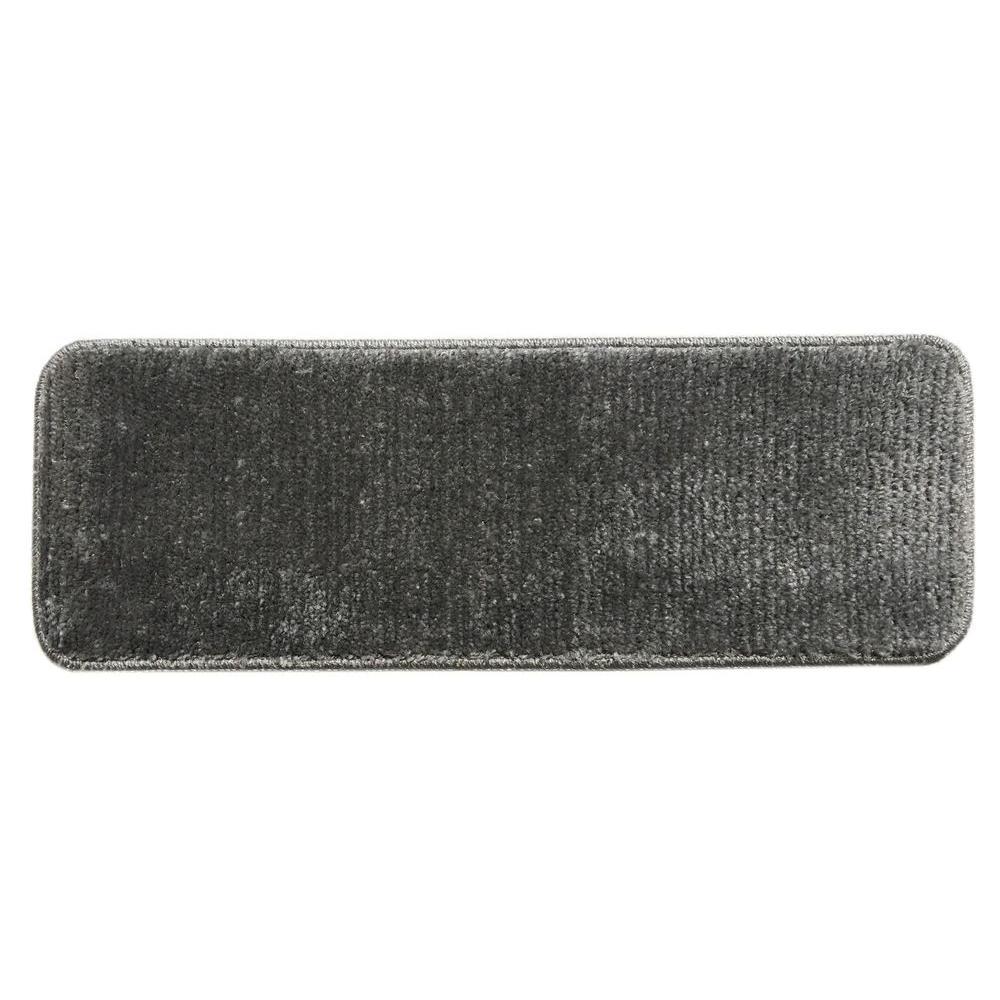 Ottomanson Softy Dark Grey 9 In X 26 Non Slip Stair Tread