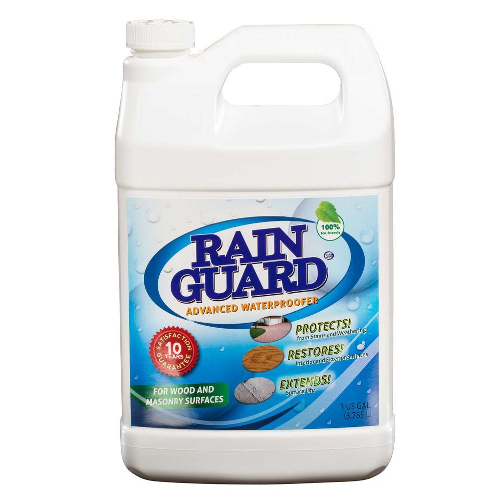RAIN GUARD 1 Gal. Advanced Multi-Surface Masonry and Wood Waterproofer 10 years