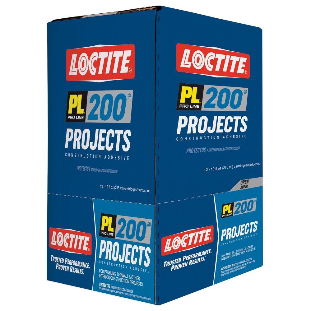 Loctite PL 200 10 fl. oz. Multi Purpose Construction Adhesive (12-Pack)