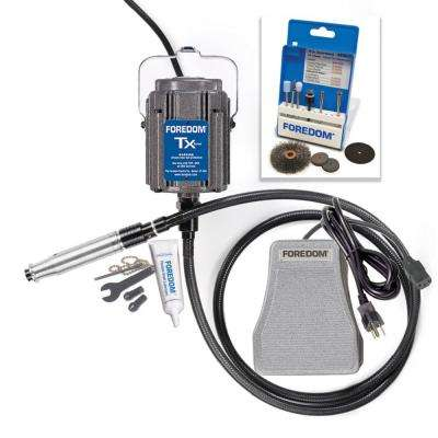 3.5 Amp 1/3 HP Corded Industrial Rotary Power Tool Kit