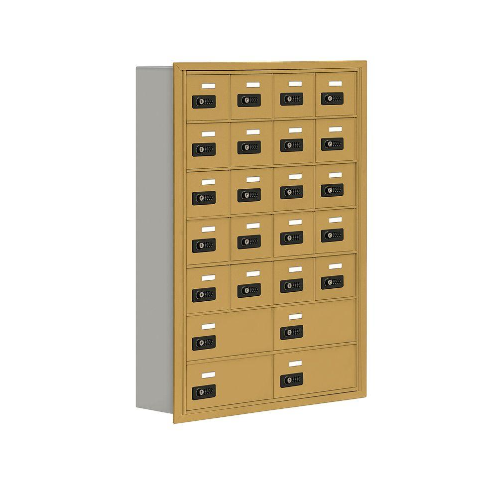 Salsbury Industries 19000 Series 30.5 in. W x 42 in. H x 5.75 in. D 20 A/4 B Doors R-Mount Resettable Locks Cell Phone Locker in Gold