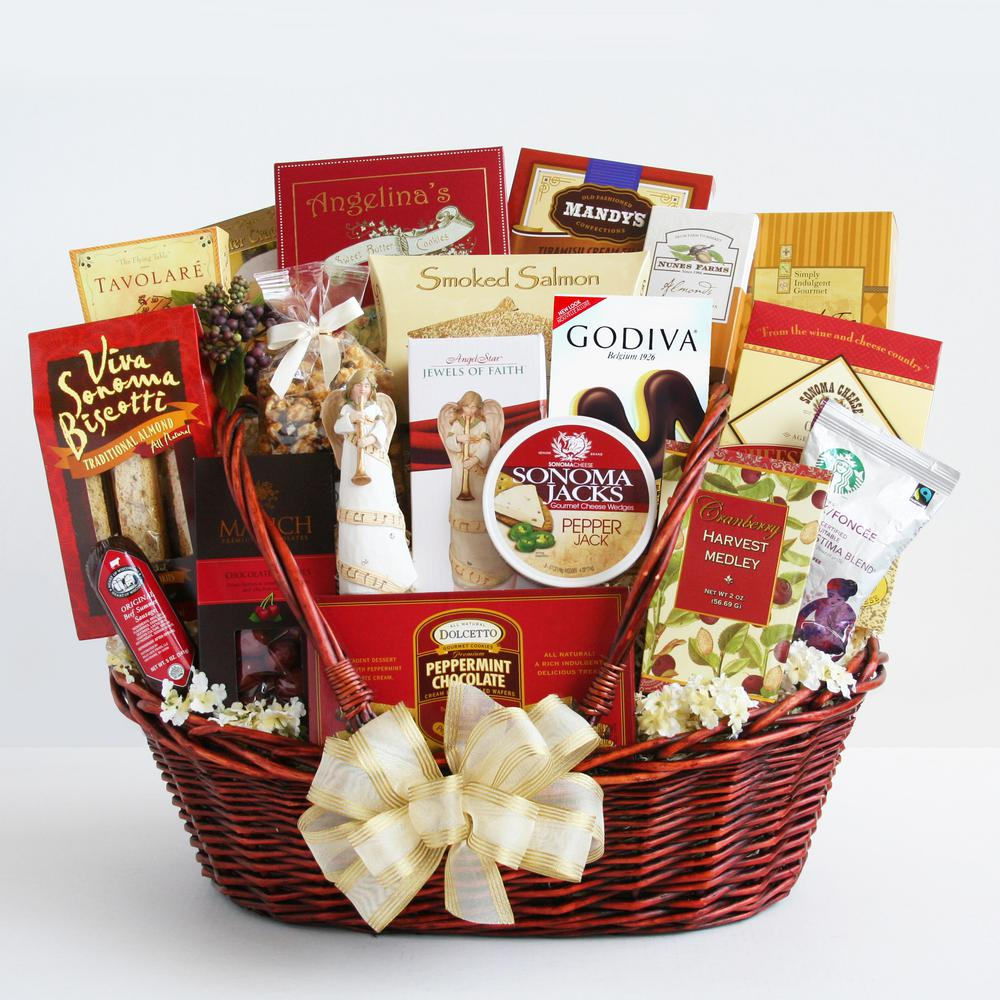 Givens & Company Peace, Prayer and Blessings Sympathy Gift Basket GIV-5332 - The Home Depot