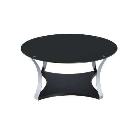 Geiger Black and Silver Storage Coffee Table