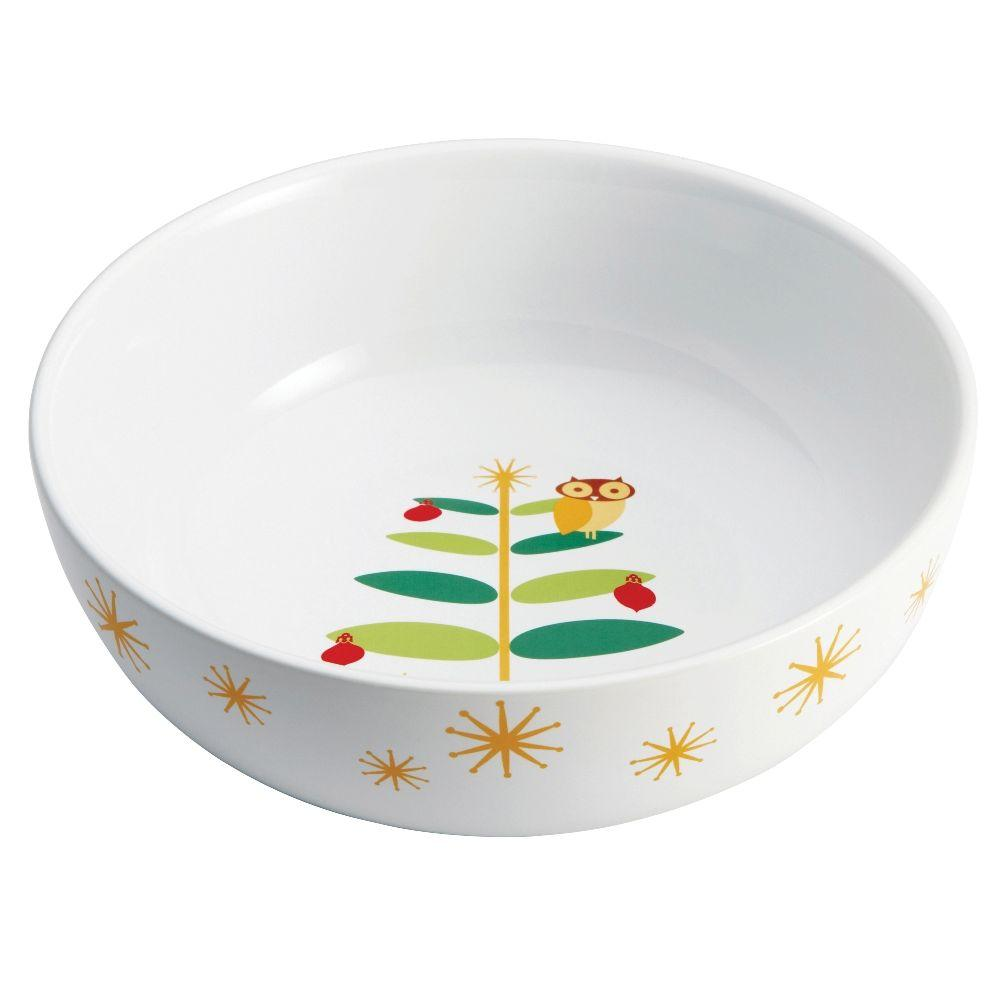 Rachael Ray Holiday Hoot 10 in. Serving Bowl