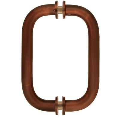8 in. Tubular Back-to-Back Shower Door Pull Handles in Oil Rubbed Bronze with Washers