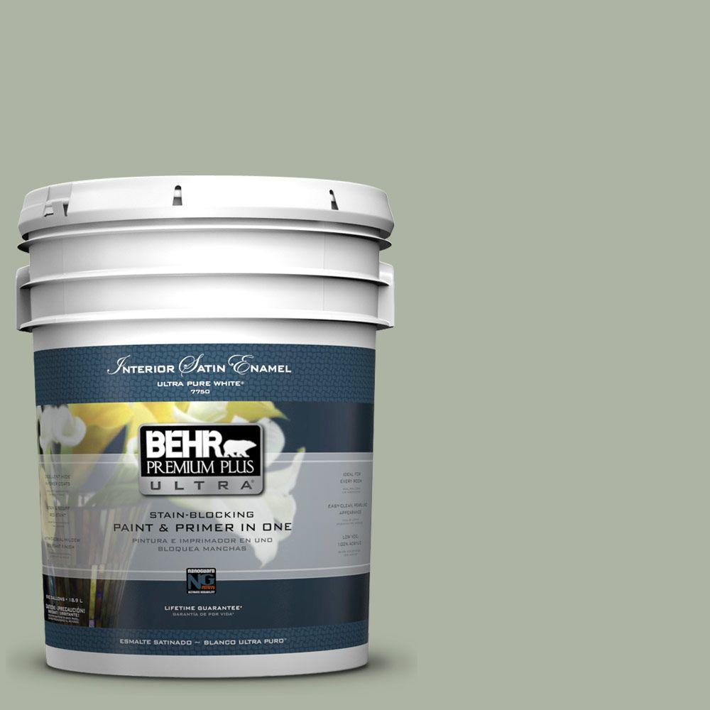 BEHR Premium Plus Ultra 5-gal. #430E-3 Laurel Mist Satin Enamel Interior Paint