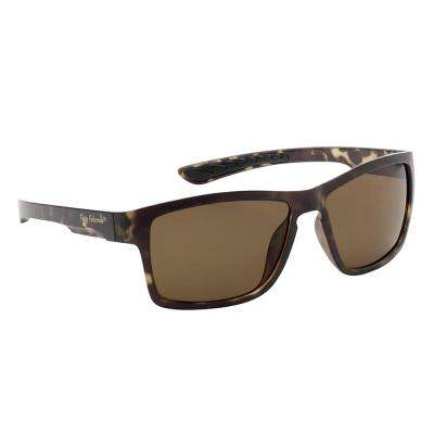 Tiki Polarized Sunglasses Matte Tortoise Frame with Amber Lens