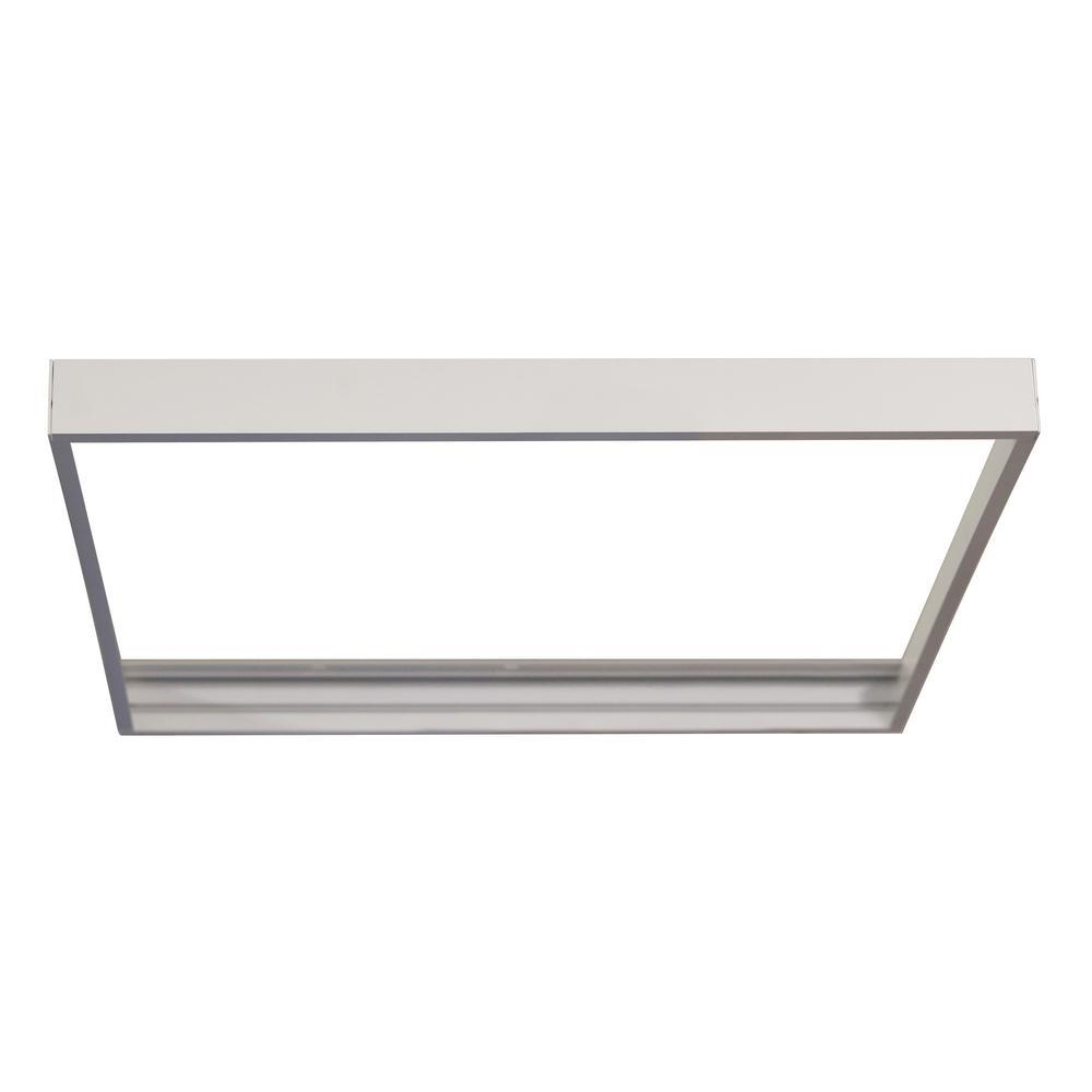 Worldwide Lighting 2 ft. x 4 ft. 50-Watt Flat Panel LED White ...