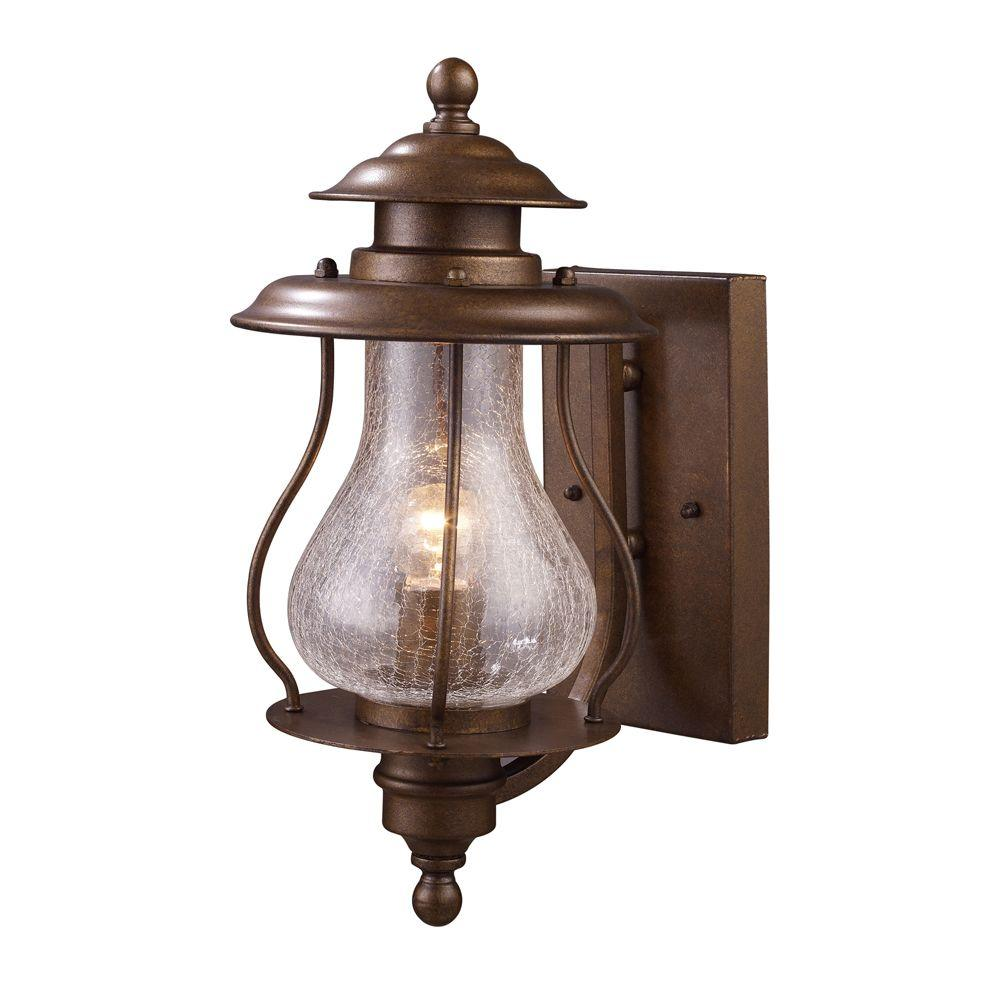 An Lighting Wikshire 1 Light Wall Mount Outdoor Coffee Bronze