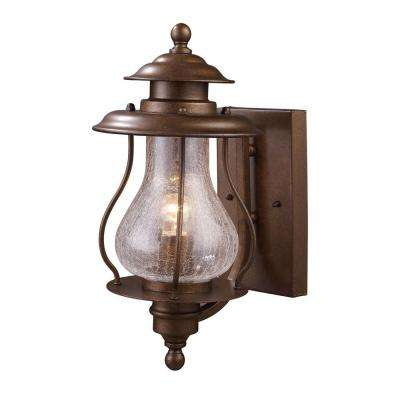 Wikshire 1-Light Wall Mount Outdoor Coffee Bronze Sconce