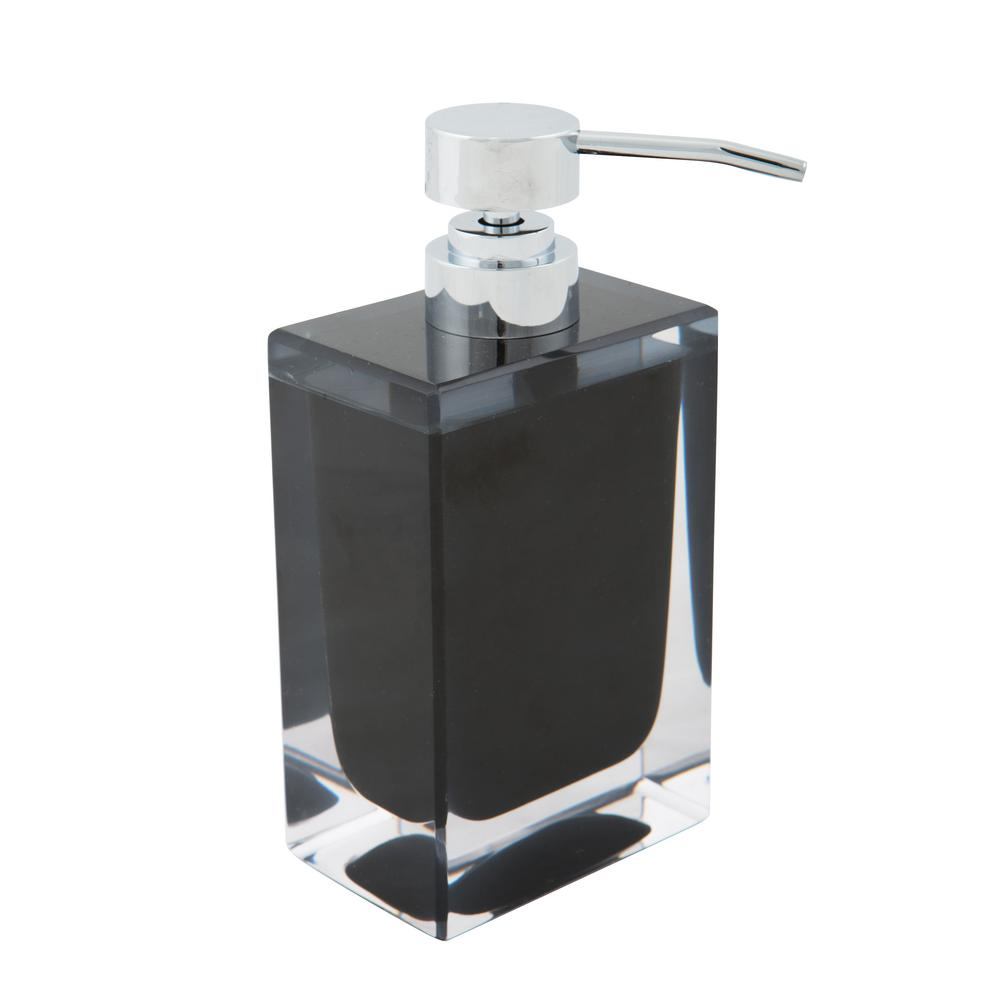 Ordinaire Bath Bliss Acrylic Square Hand Soap Pump In Black By Bath Bliss