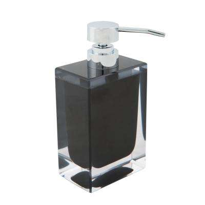 Acrylic Square Hand Soap Pump in Black by Bath Bliss