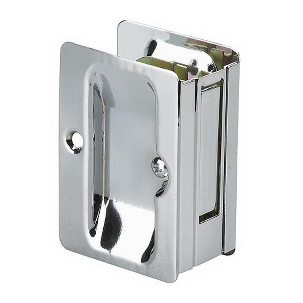 Richelieu Hardware 3 7/32 In. Chrome Pocket Door Pull With Passage Lock
