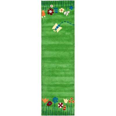 Kids Green/Multi 2 ft. 3 in. x 8 ft. Runner