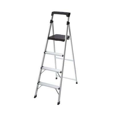 4-Step Aluminum Ultra-Light Step Stool Ladder with 225 lb. Load Capacity