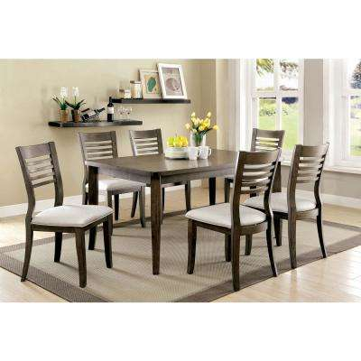 Dwight III Gray Transitional Style Dining Table