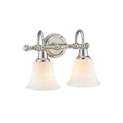 Hagan 2-Light Polished Nickel with Opal Glass Wall Sconce