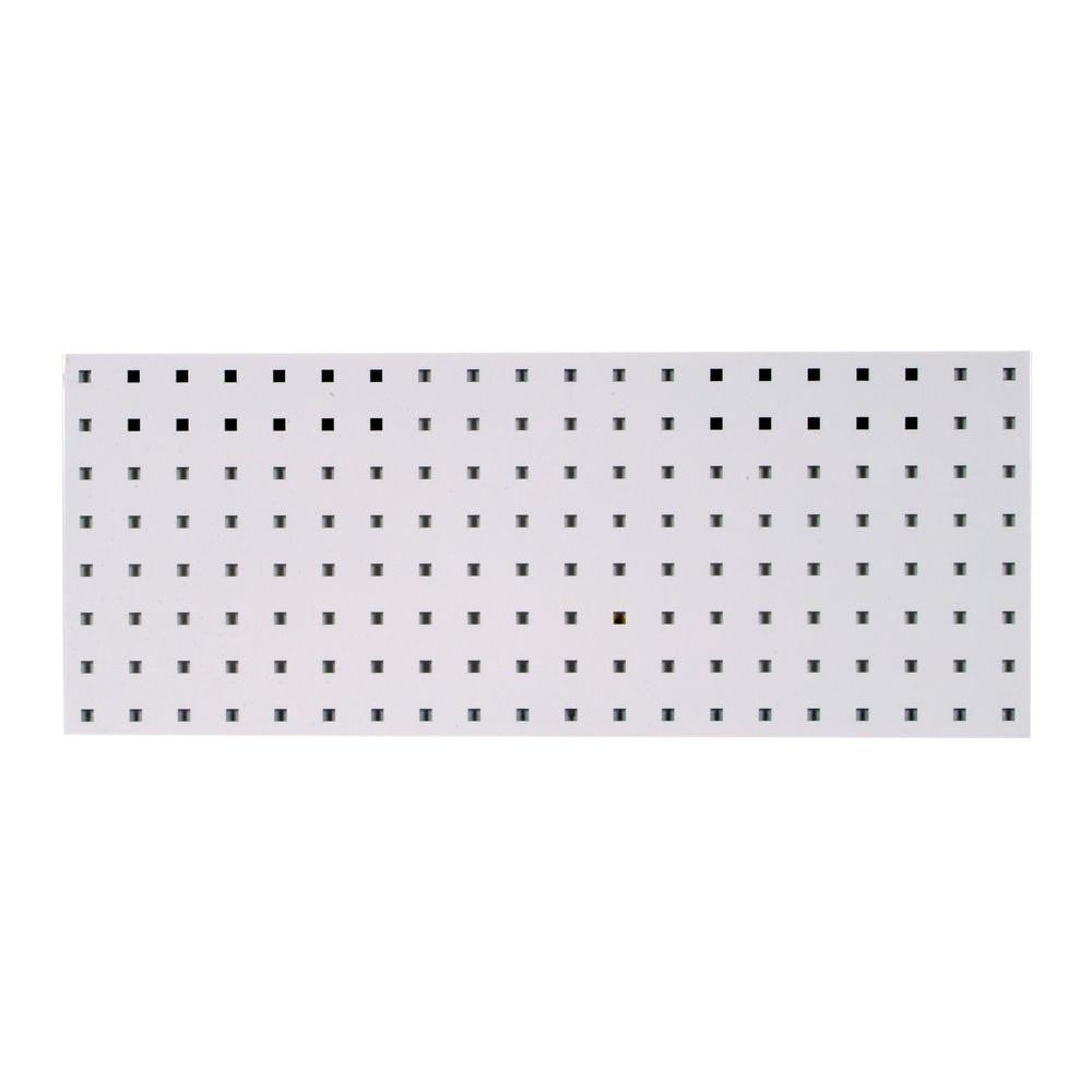 12 in. H x 30 in. W White Pegboard Wall Organizer